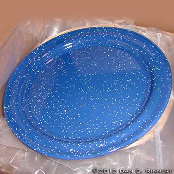 Blue Enamelware Plate 1351