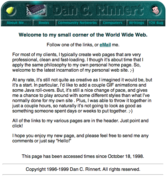 DCR Website 1999